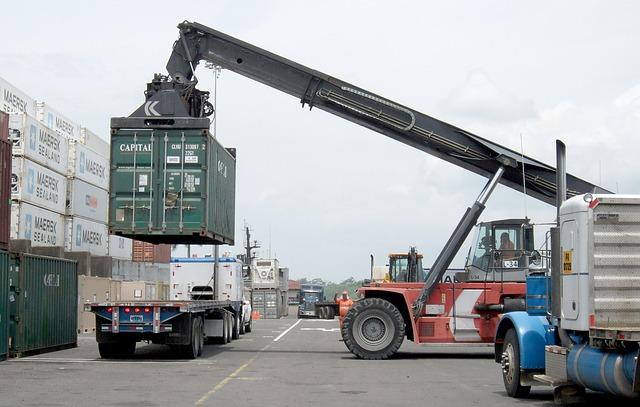 kontejner, nakládání nákladu